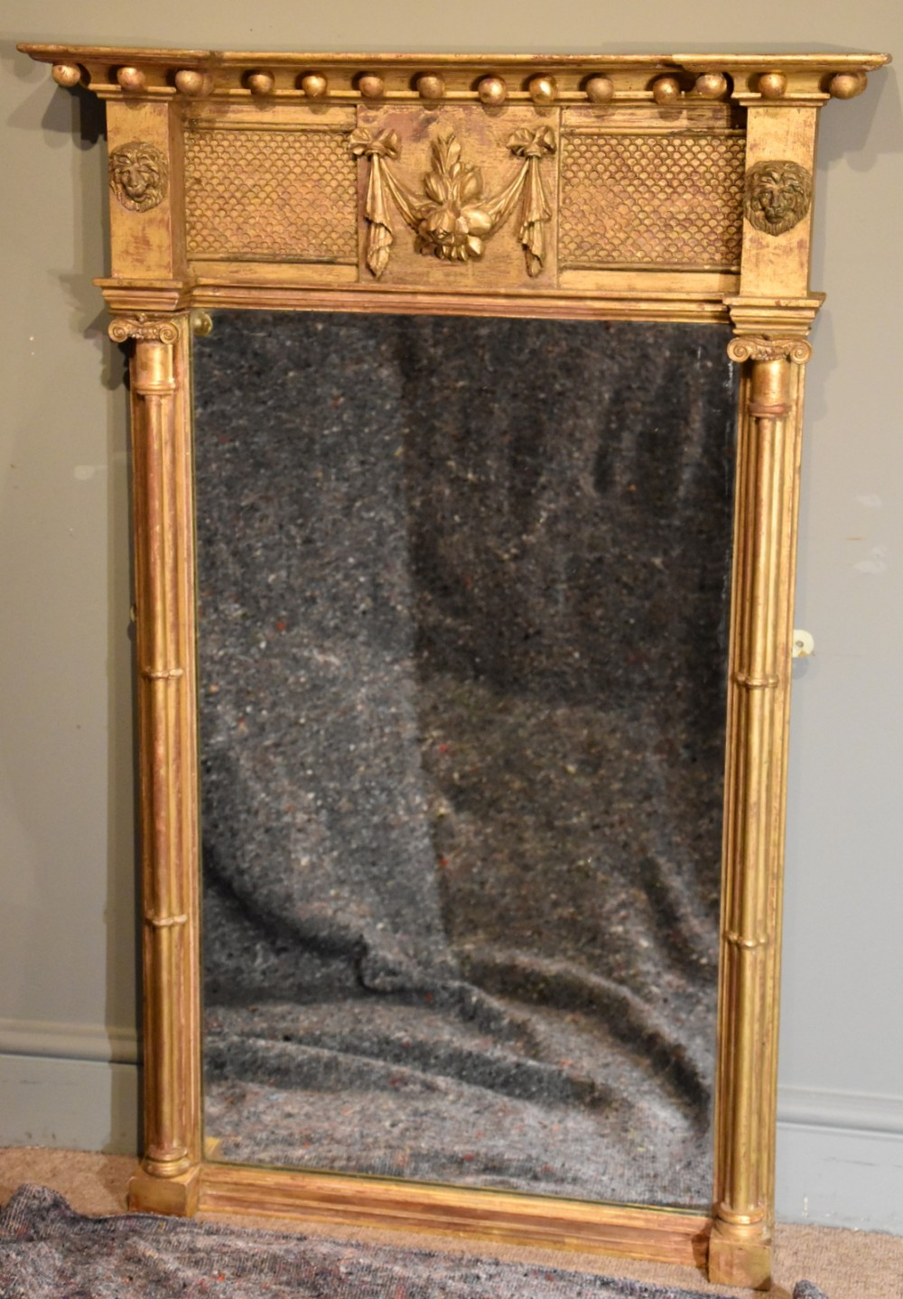 late 19th century giltwood pier mirror