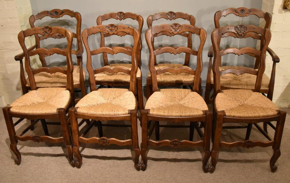 french carved dining chairs set of eight superb condition
