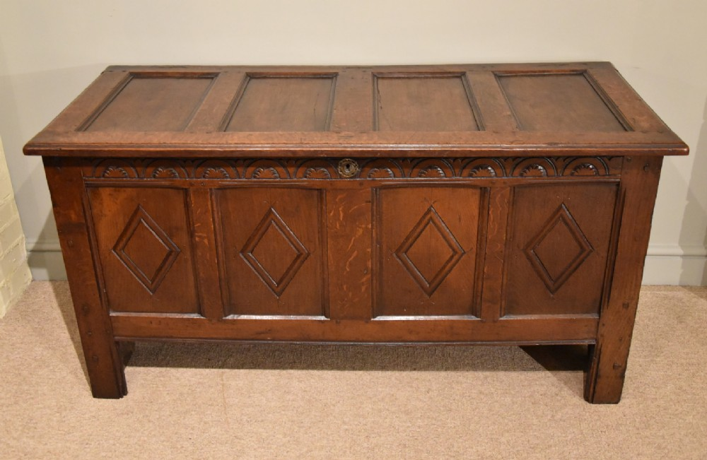 a large oak coffer from late 17th century