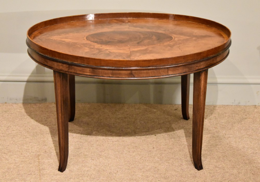 georgian oval tray on stand