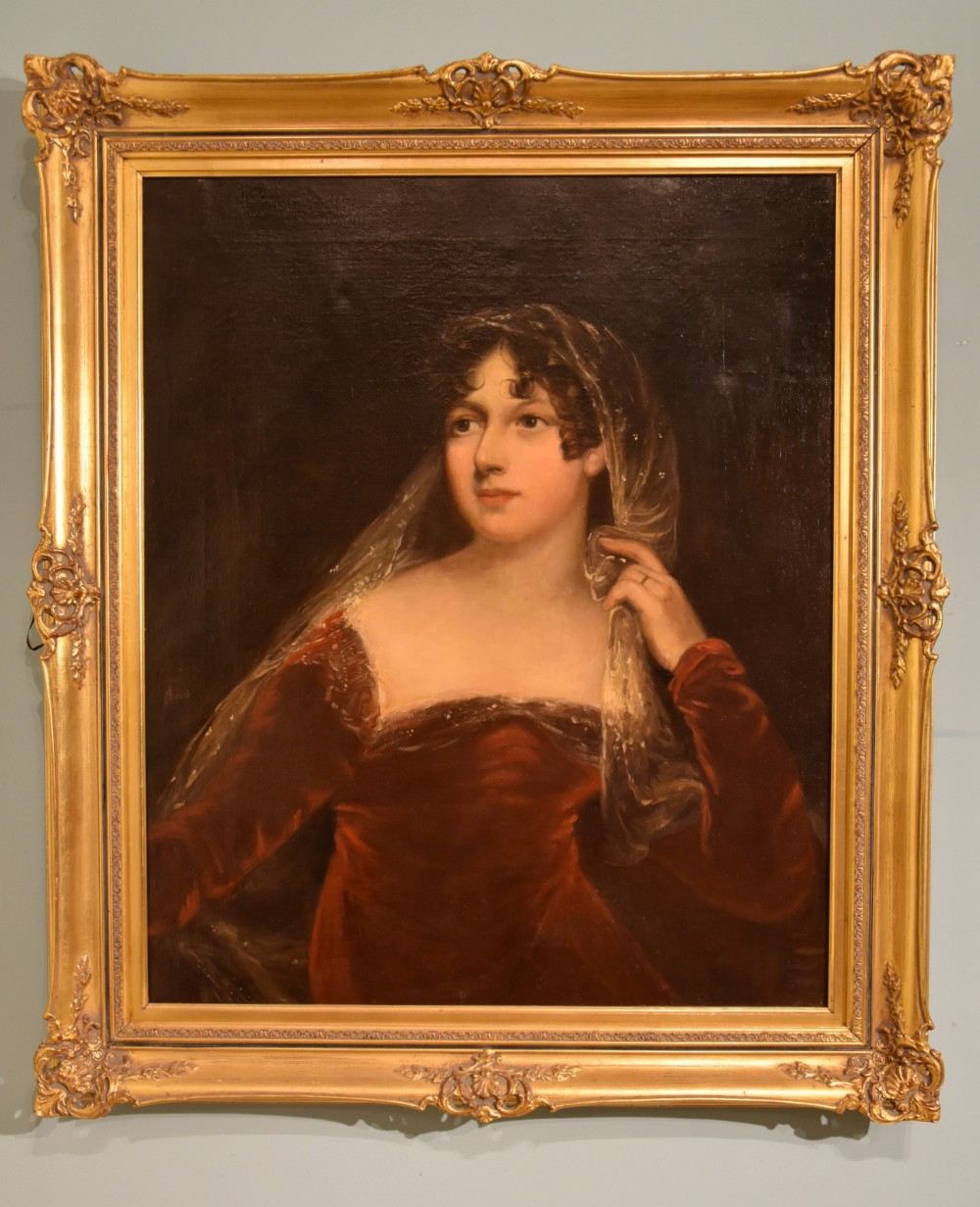 portrait of a lady oil painting