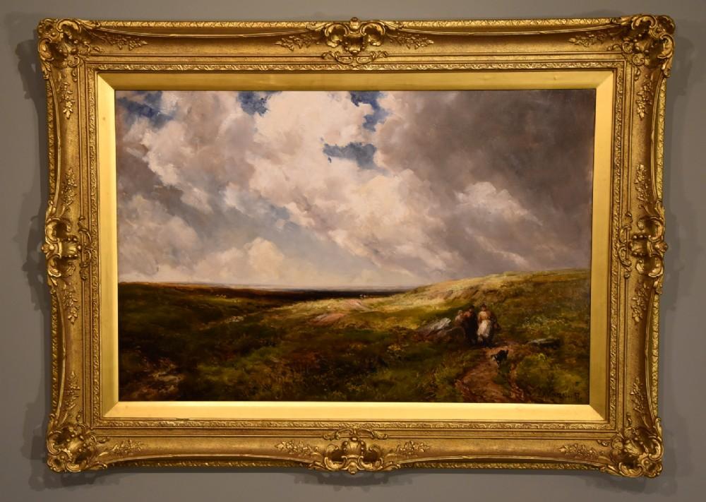 gathering whortleberries dartmoor by edmund morison wimperis