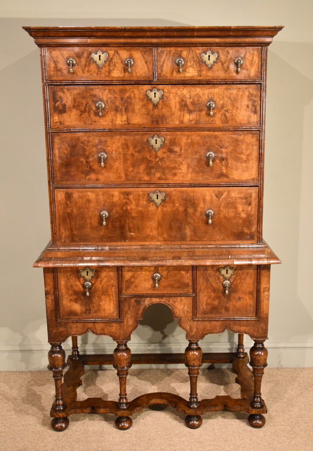 early 18th century chest on stand with provenance