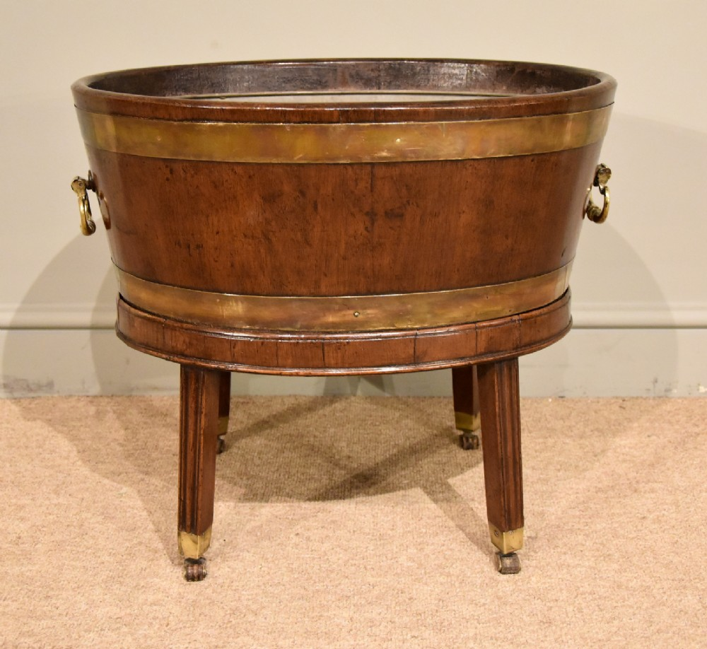 18th century oval wine cooler