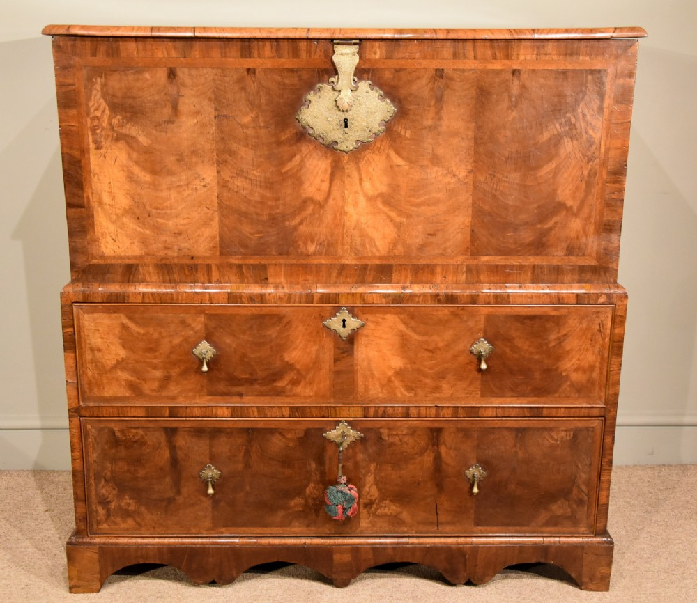 william and mary walnut chest 17th century