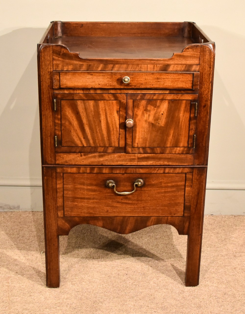 george iii bedside cabinet table commode