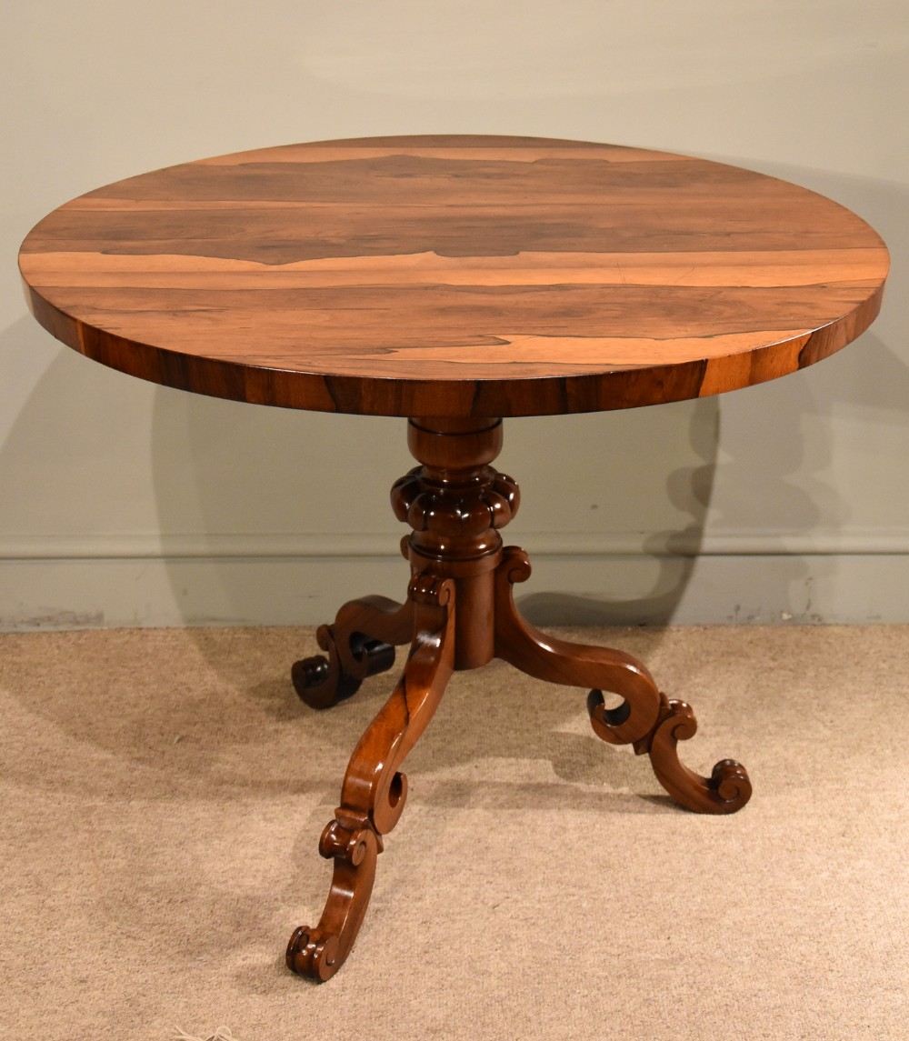 small rosewood centre table william iv