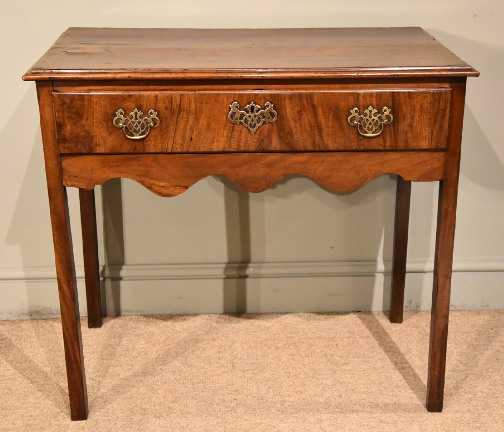18th century country single drawer side table