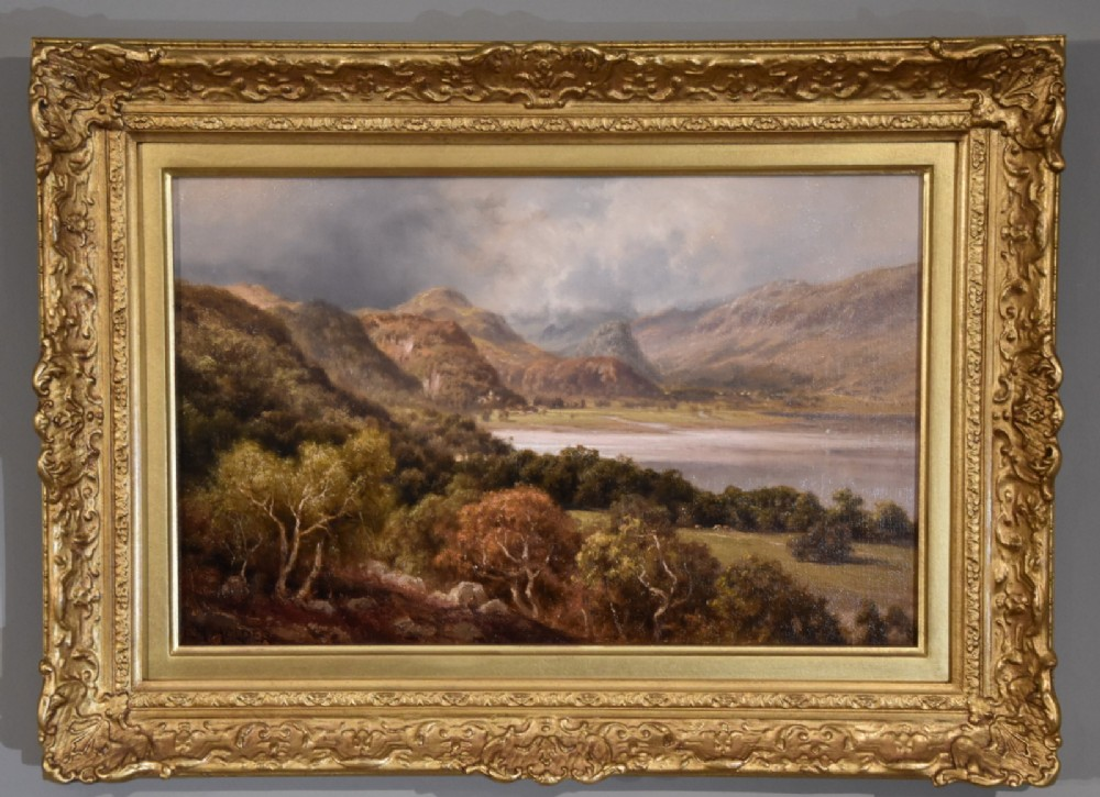 oil painting by edward henry holder scene in the lake district