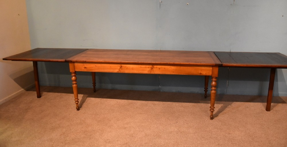 french farmhouse cherry dining table extending