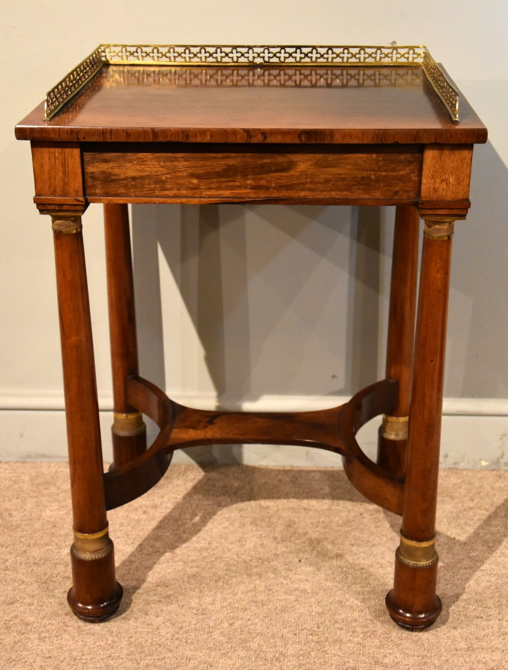 french regency rosewood side table