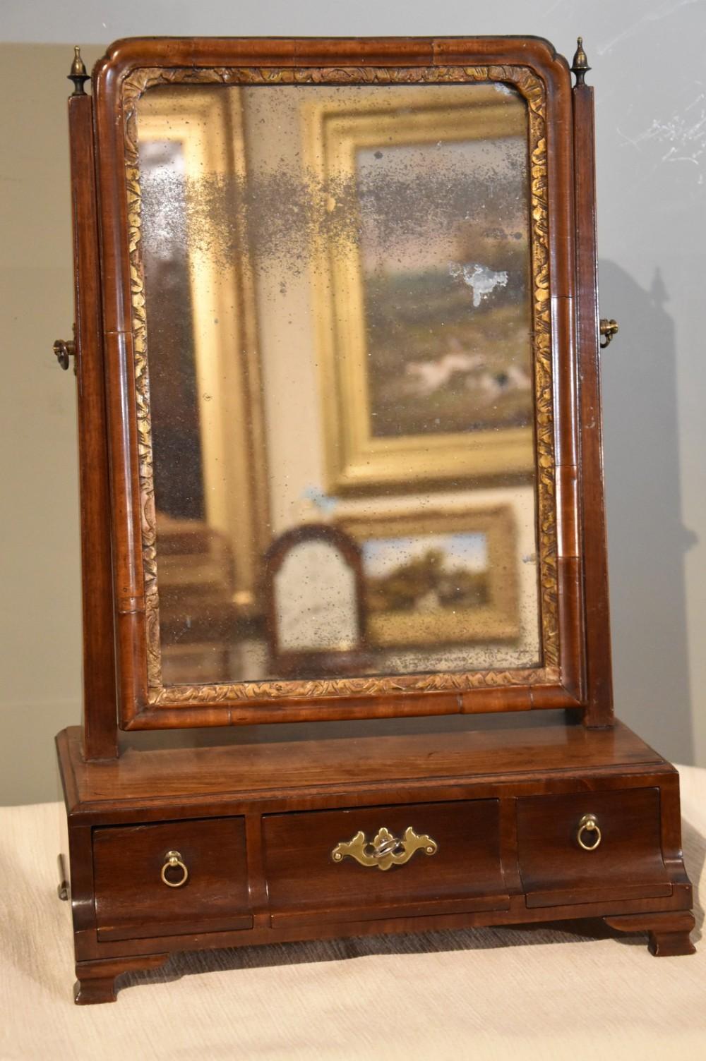 18th century mahogany box dressing table mirror