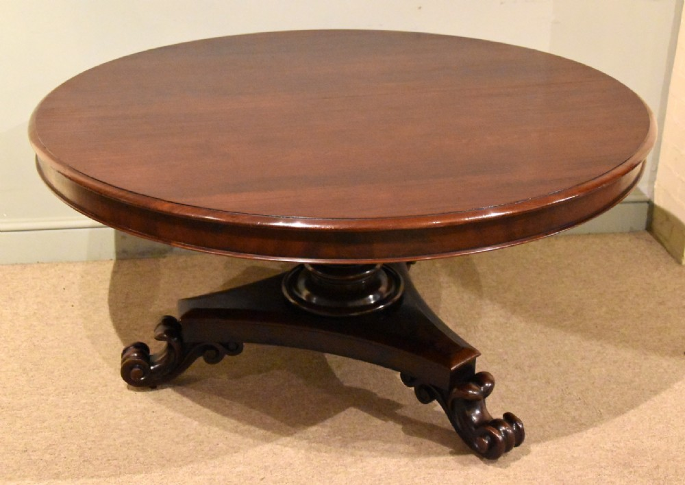 william iv large circular breakfast dining table
