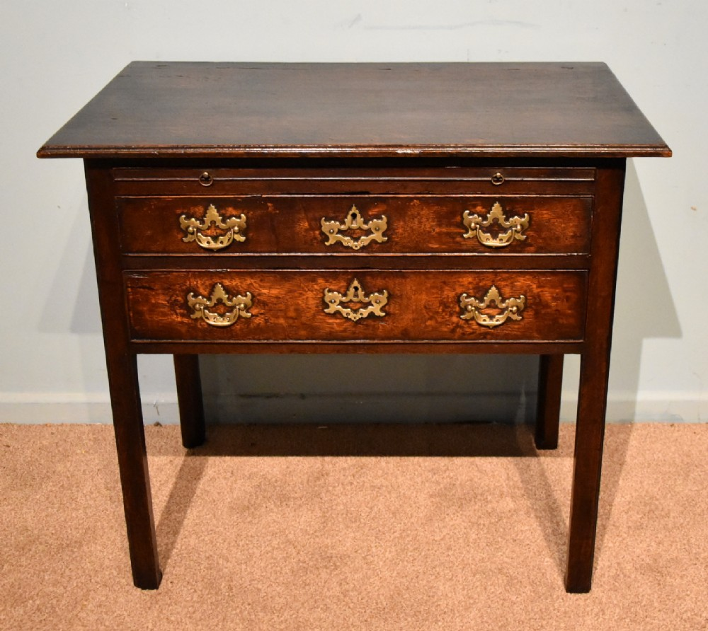 george iii country oak lowboy side table