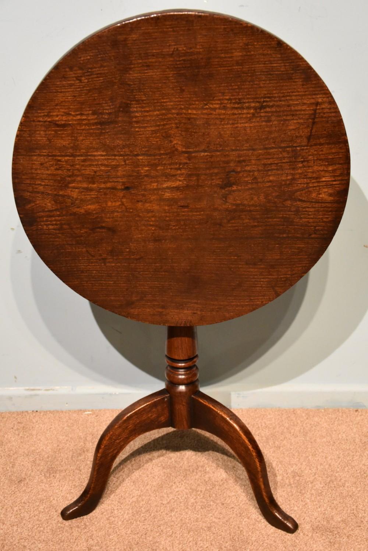 elm quaker style tilting tripod lampwine table