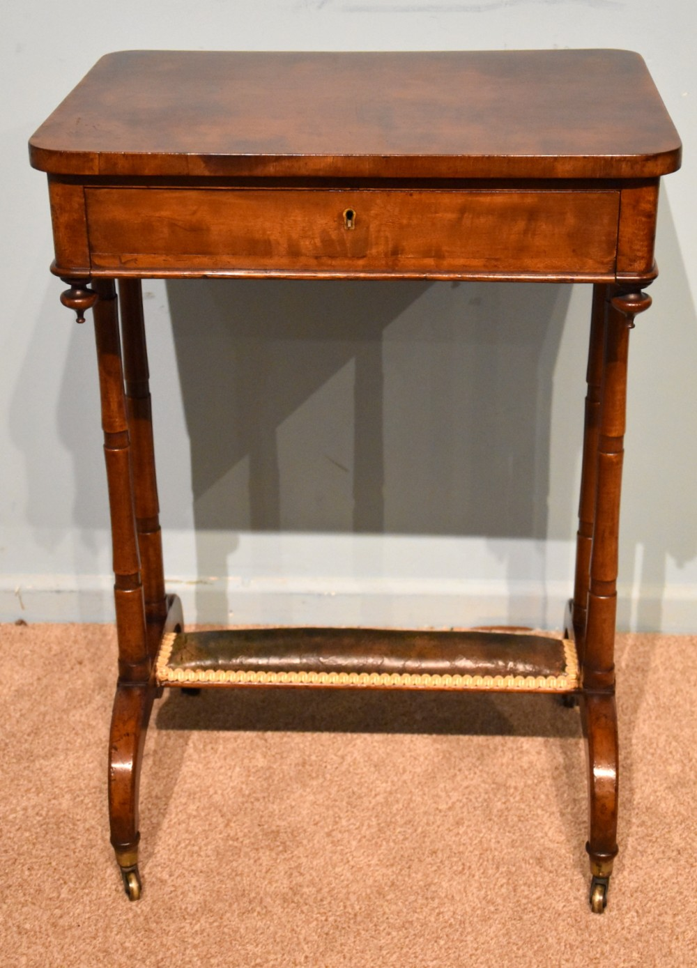 william iv mahogany work table occasional table
