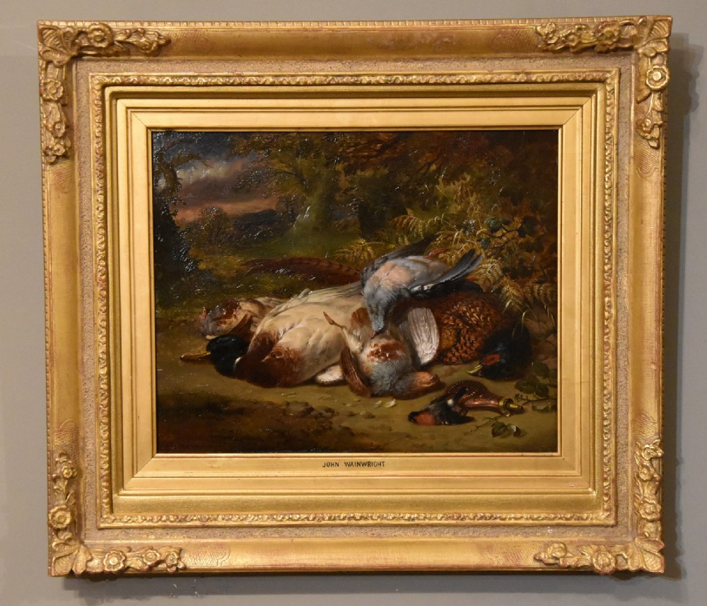 oil painting by john wainwright a sportsman's bag