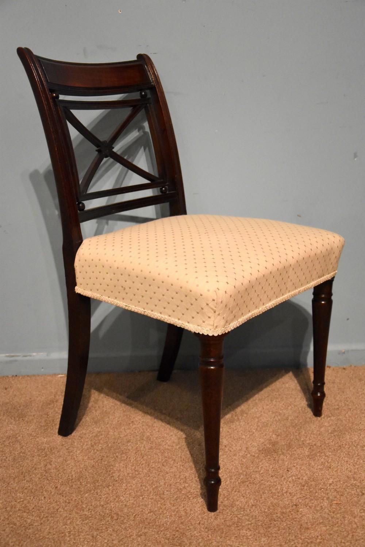 elegant single regency period mahogany side chair