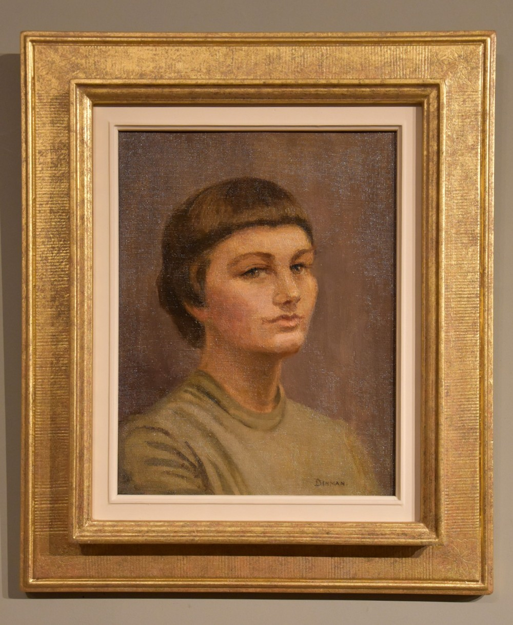 oil painting by gladys denmanjones the student