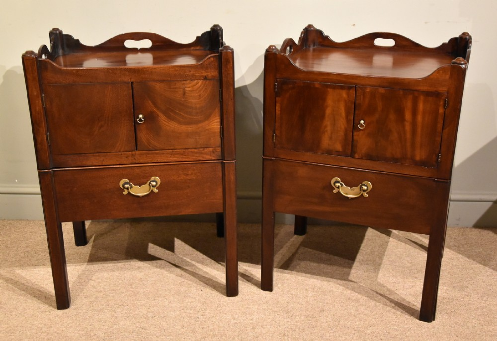 pair of 18th centurygeorge iii chippendale bedside commodes