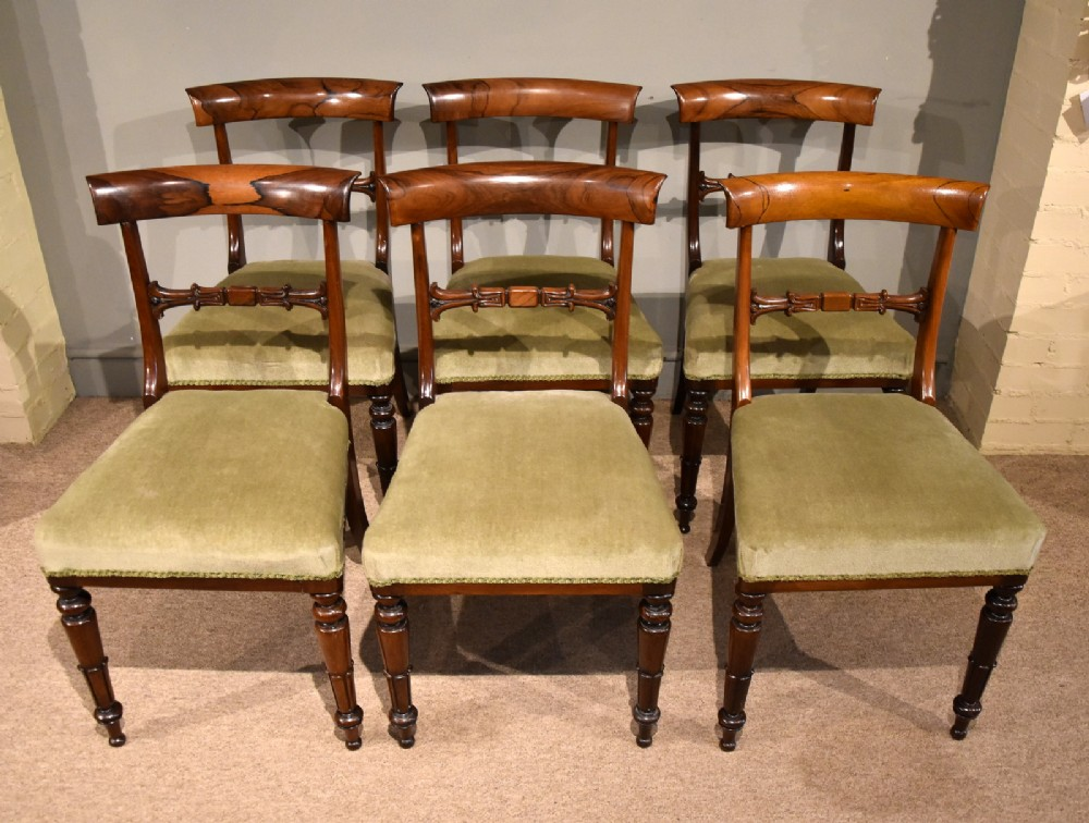 set of six william iv rosewood dining chair