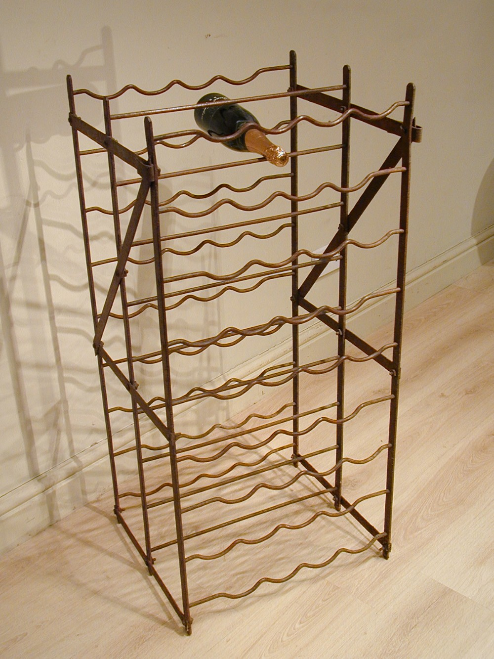 A doublesided vintage wine rack 336731 sellingantiques for Old wine rack