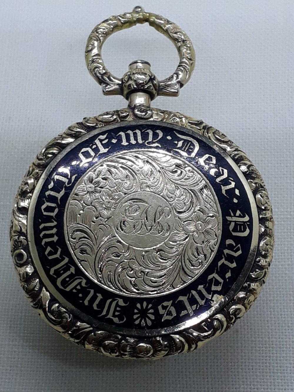 georgian gold and enamel locket pendant circa 1820