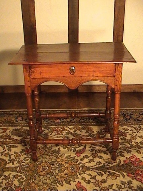 beautiful william mary english oak and elm lowboy