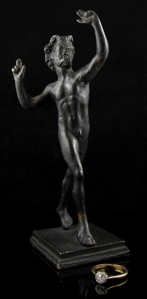 bronze dancing faun 19th century and well cast
