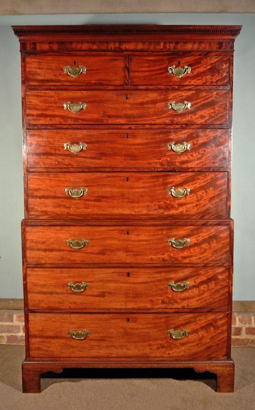 george iii mahogany tallboy c 1815