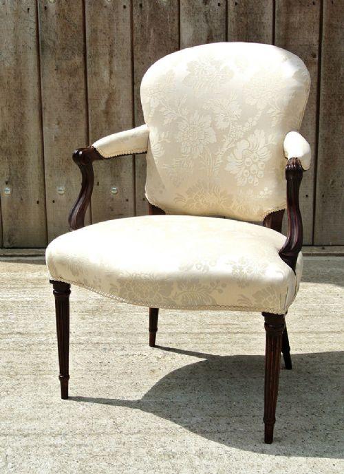 george iii hepplewhite mahogany armchair c1780