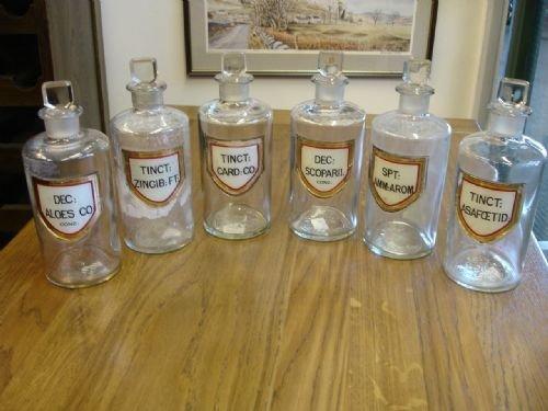 victorian chemist jars