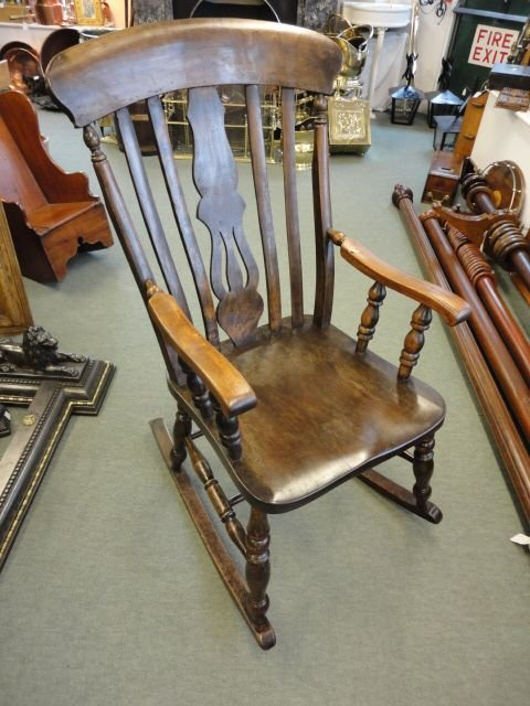 Victorian Fiddle Back Rocking Chair 113649