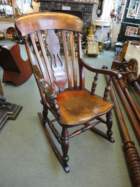 Awesome Quality Victorian Fiddleback Rocking Chair 115369 Inzonedesignstudio Interior Chair Design Inzonedesignstudiocom