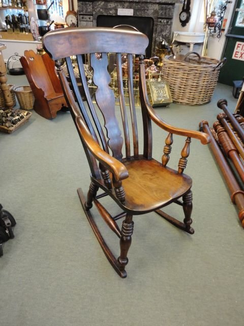 Victorian Fiddle Back Rocking Chair 141628