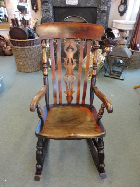 Fine Victorian Fiddleback Rocking Chair 234073 Inzonedesignstudio Interior Chair Design Inzonedesignstudiocom