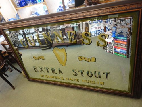 Vintage Guinness Mirror 276899 Sellingantiques Co Uk