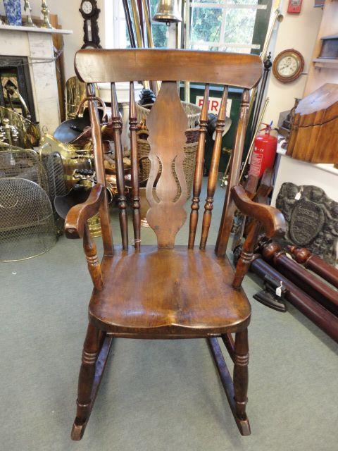 Strange Victorian Fiddle Back Rocking Chair 305904 Inzonedesignstudio Interior Chair Design Inzonedesignstudiocom