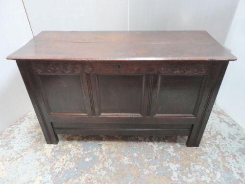 oak mule chest dated 1716