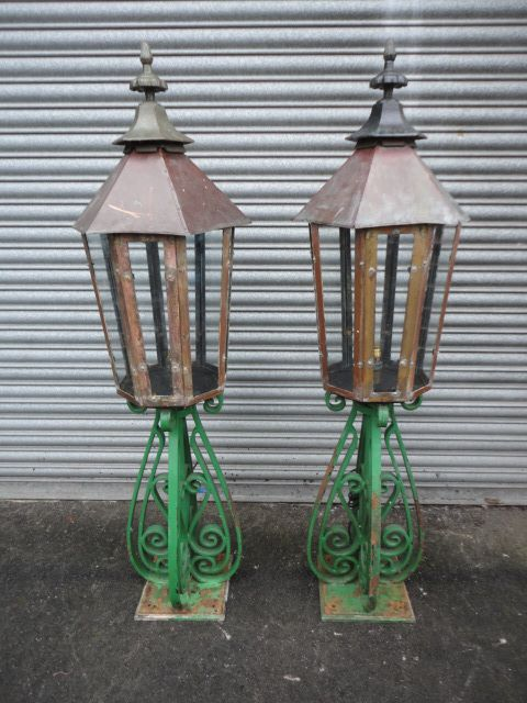 very impressive pair of outside lanterns
