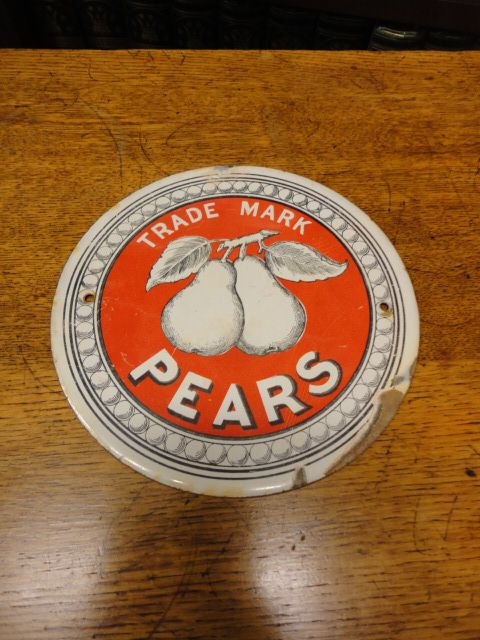 pears soap sign