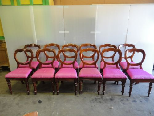 set of 12 victorian chairs
