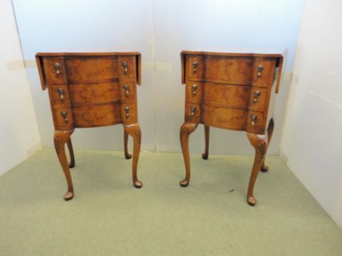 pair of walnut side table or bedsides