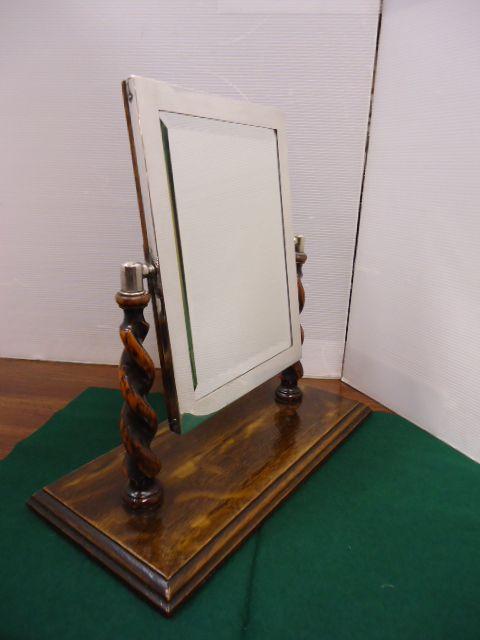 silver easel mirror