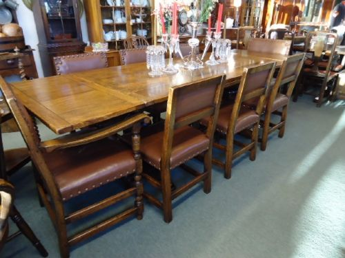 large oak wylie lockhead 9' table
