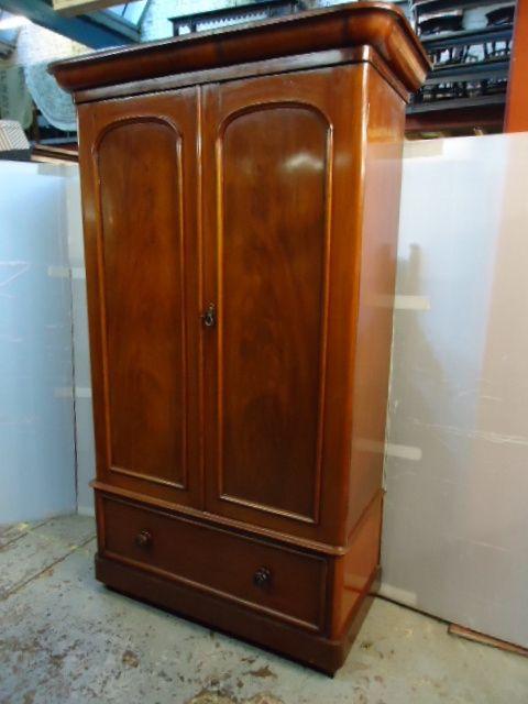 victorian mahogany double robe
