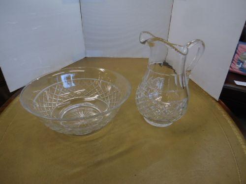 quality cut glass victorian jug bowl