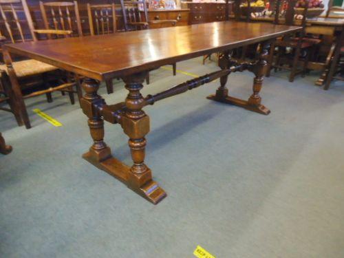 7' oak table