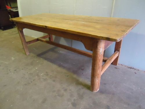 7' pine dining table