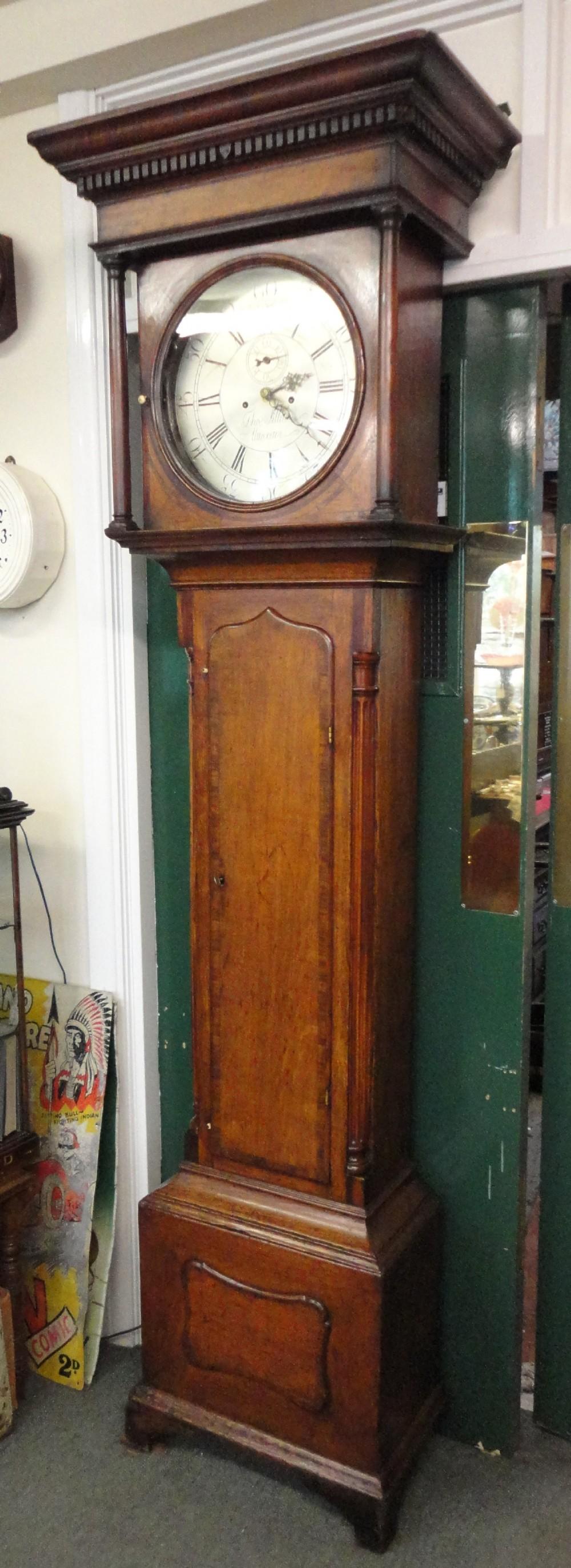 oak 8 day grandfather clock